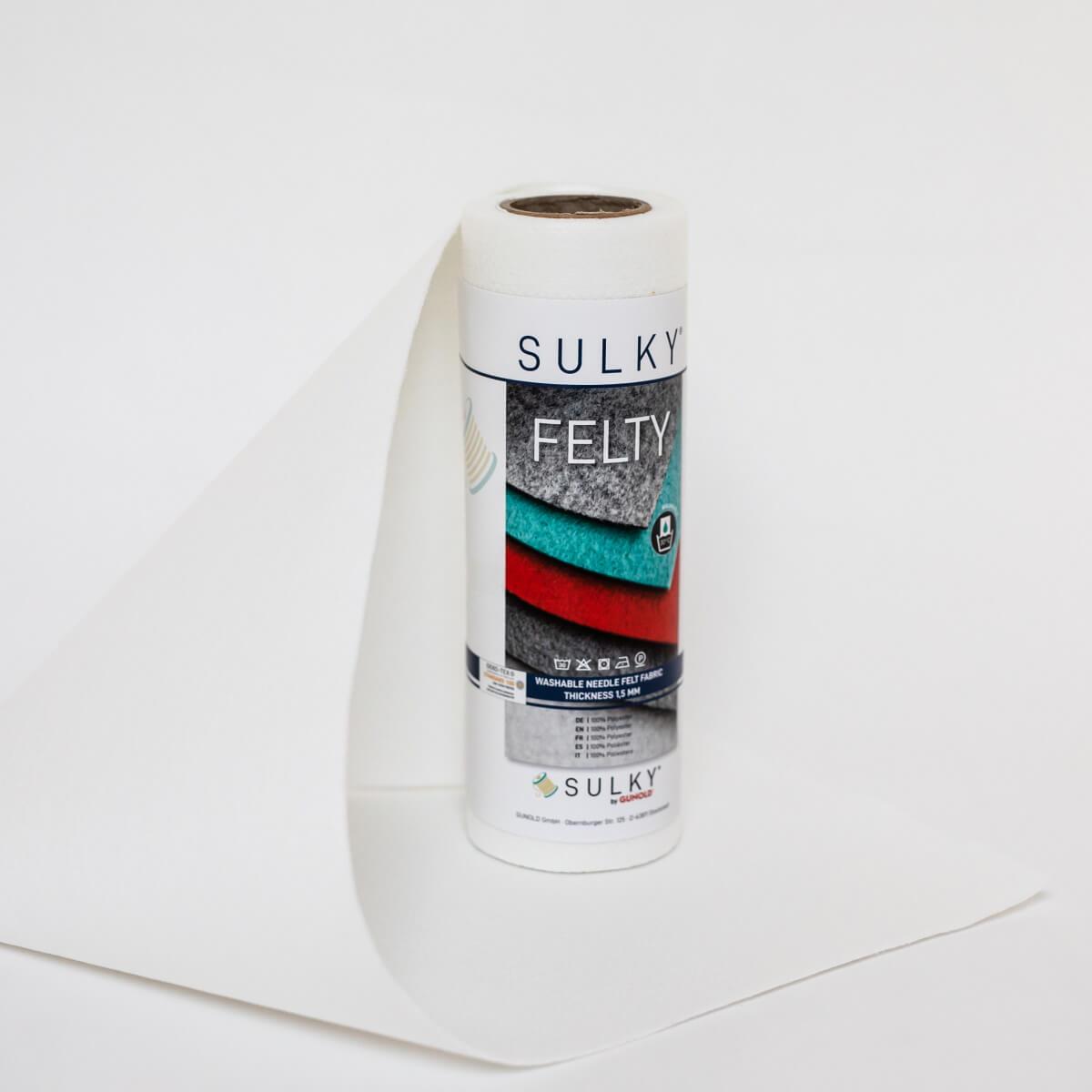 SULKY FELTY, waschbar, 25cm x 3m - Farbe 400 rohweiß