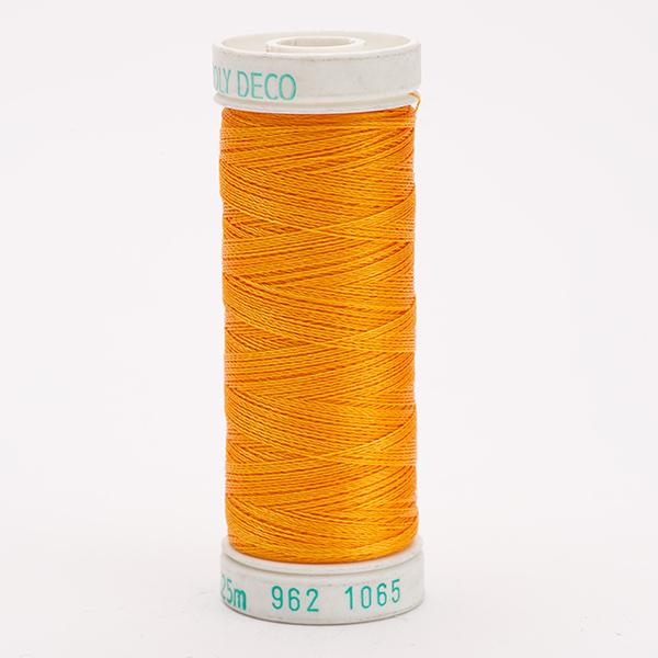 SULKY POLY DECO 40, 225m Snap Spulen -  Farbe 1065 Orange Yellow