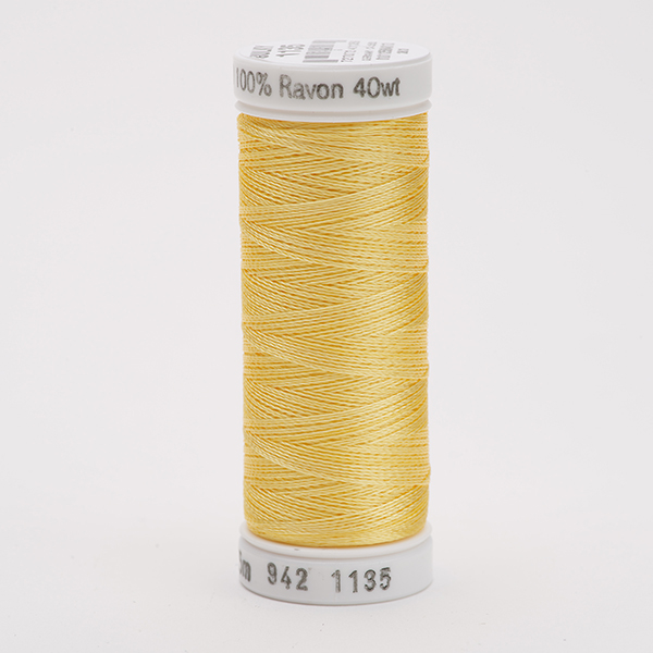 SULKY RAYON 40 farbig, 225m Snap Spulen -  Farbe 1135 Pastel Yellow
