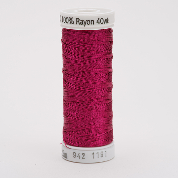 SULKY RAYON 40 farbig, 225m Snap Spulen -  Farbe 1191 Dk. Rose