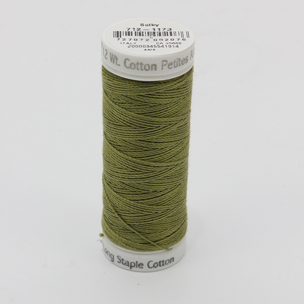 SULKY COTTON PETITES 12, 46m Snap Spulen -  Farbe 1173 Med. Army Green