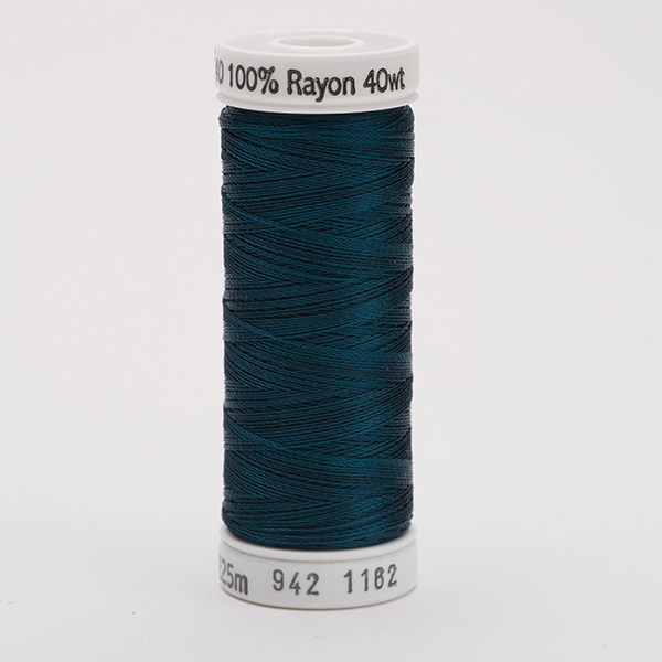 SULKY RAYON 40 farbig, 225m Snap Spulen -  Farbe 1162 Deep Teal
