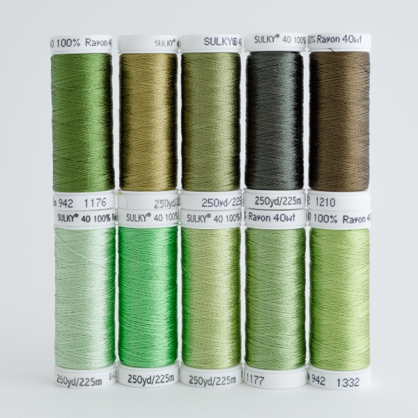 SULKY RAYON 40 - GREENERY (10 x 225m Snap Spulen)