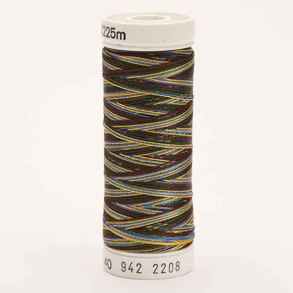 SULKY RAYON 40 ombre/multicolor, 225m Snap Spulen -  Farbe 2208 Burgunday/Green/Blue/Tan