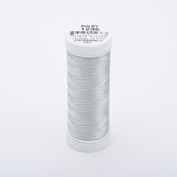SULKY RAYON 40 farbig, 225m Snap Spulen -  Farbe 1236 Lt. Silver