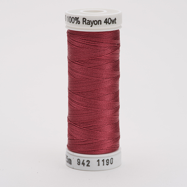 SULKY RAYON 40 farbig, 225m Snap Spulen -  Farbe 1190 Med. Burgundy