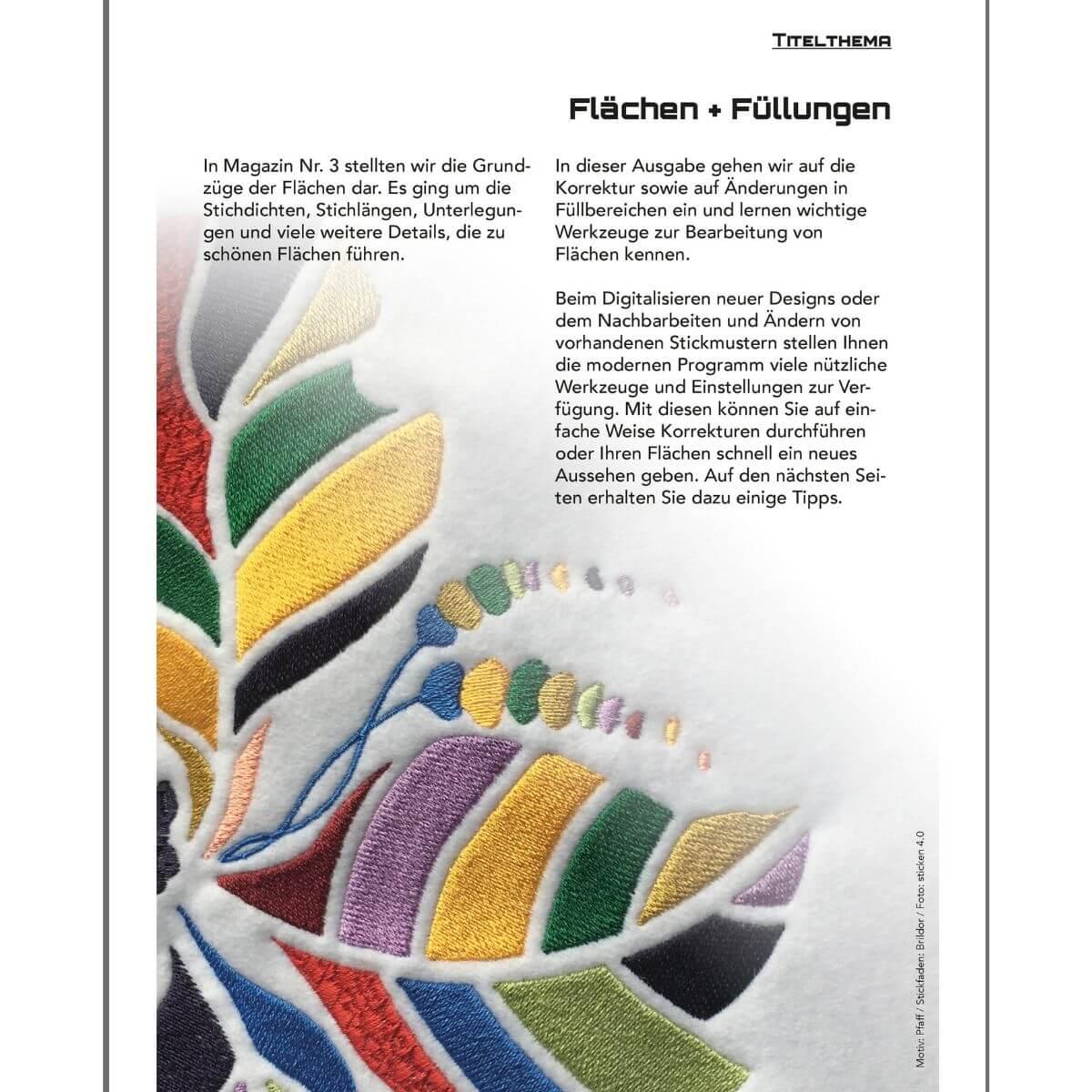 Sticken 4.0 - Das Magazin für Stickmaschinen und Software  - Ausgabe  Jan. 2019