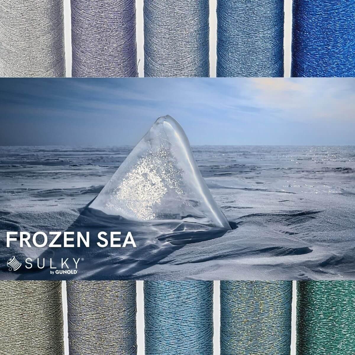 SULKY POLY SPARKLE 30 - Frozen Sea (10 x 265m Snap Spulen)