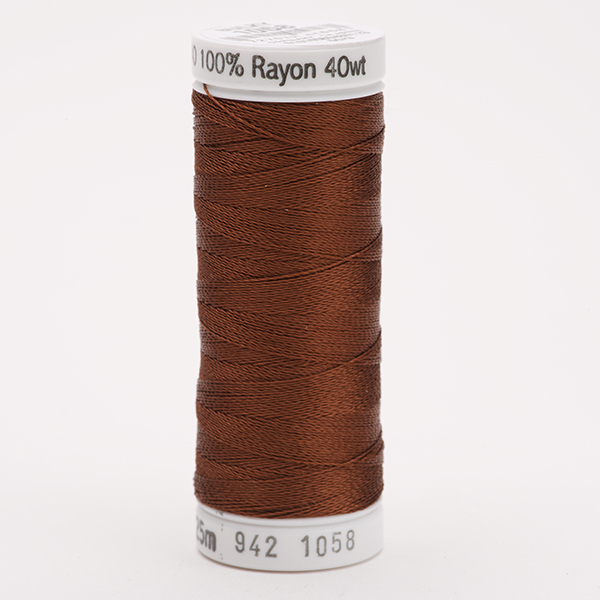 SULKY RAYON 40 farbig, 225m Snap Spulen -  Farbe 1058 Tawny Brown