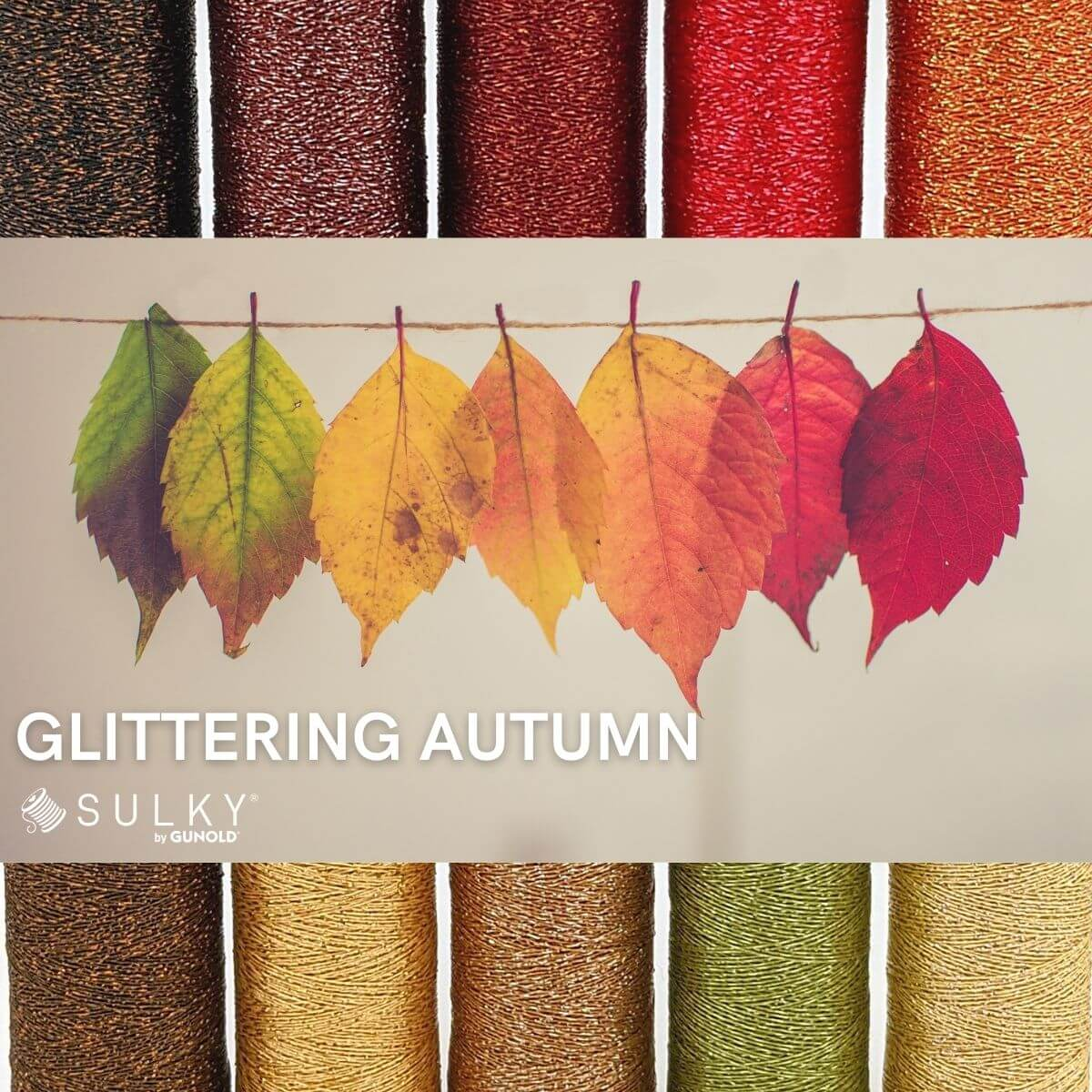 SULKY POLY SPARKLE 30 - Glittering Autumn (10 x 265m Snap Spulen)