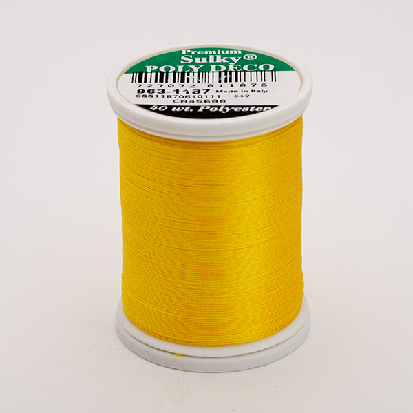 SULKY POLY DECO 40, 820m King Spulen -  Farbe 1187 Mimosa Yellow