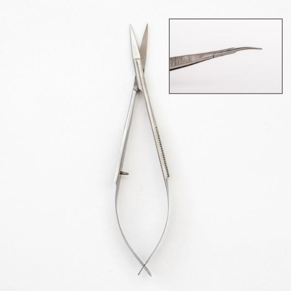 Pinzettenschere gebogen 12cm