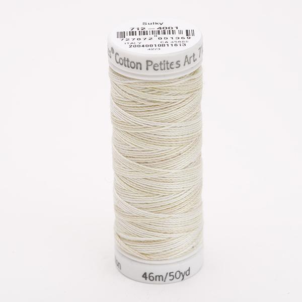 SULKY COTTON PETITES 12, 46m Snap Spulen -  Farbe 4001 Parchment multicolour