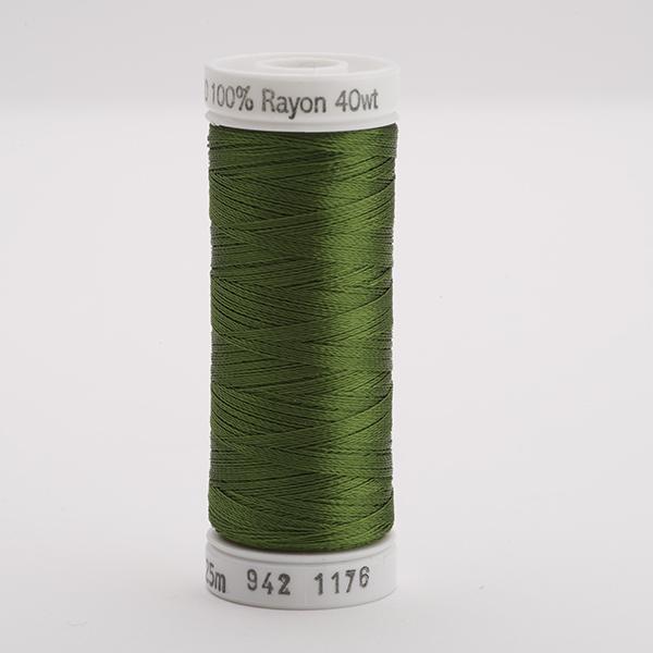 SULKY RAYON 40 farbig, 225m Snap Spulen -  Farbe 1176 Med. Dk. Avocado