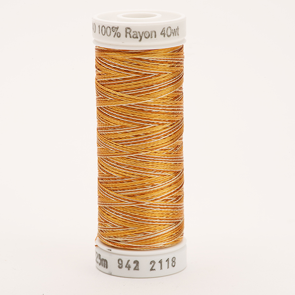 SULKY RAYON 40 ombre/multicolor, 225m Snap Spulen -  Farbe 2118 Vari-Med. Browns