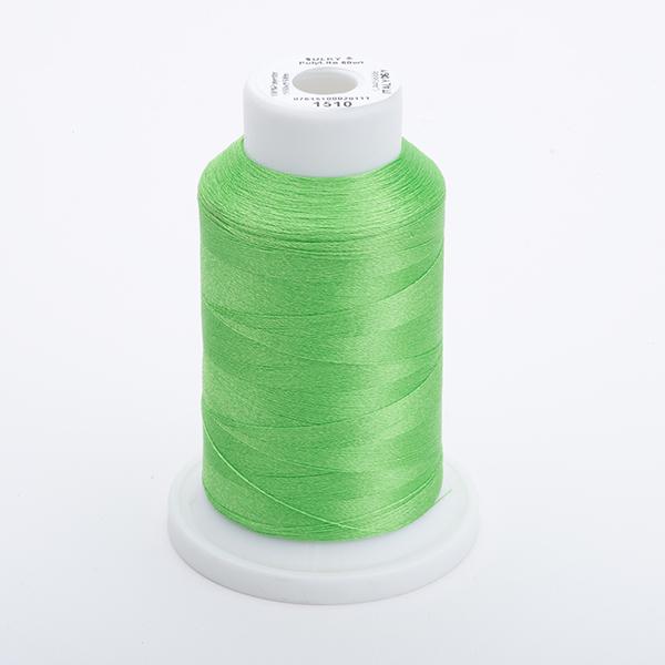 SULKY POLY LITE 60, 1500m Maxi Spulen -  Farbe 1510 Lime Green