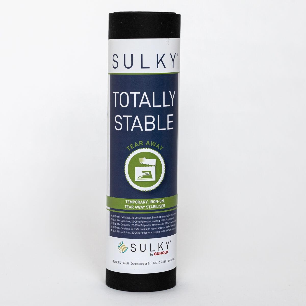 SULKY TOTALLY STABLE schwarz, 25cm x 10m