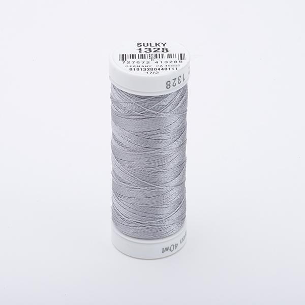 SULKY RAYON 40 farbig, 225m Snap Spulen -  Farbe 1328 Nickel Gray