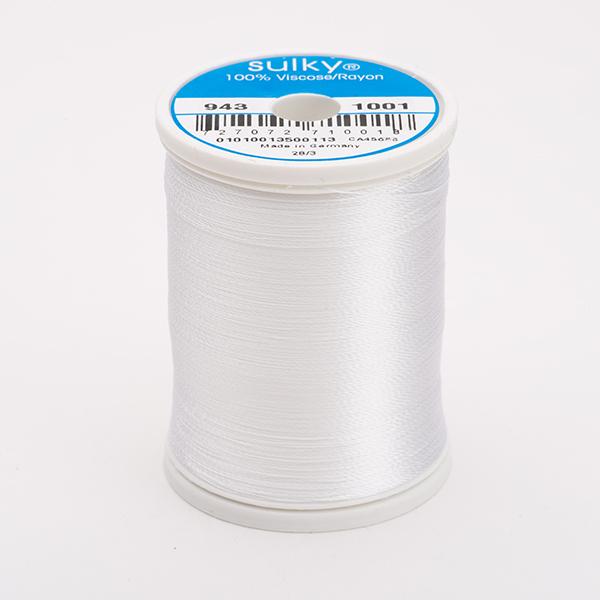 SULKY RAYON 40 weiß, 780m King Spulen -  Farbe 1001 Bright White