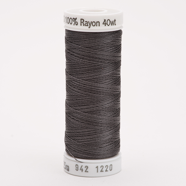 SULKY RAYON 40 farbig, 225m Snap Spulen -  Farbe 1220 Charcoal Gray