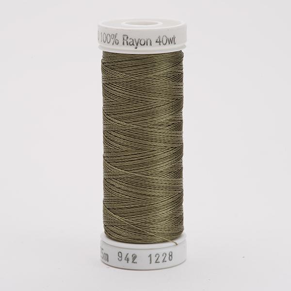 SULKY RAYON 40 farbig, 225m Snap Spulen -  Farbe 1228 Drab Green