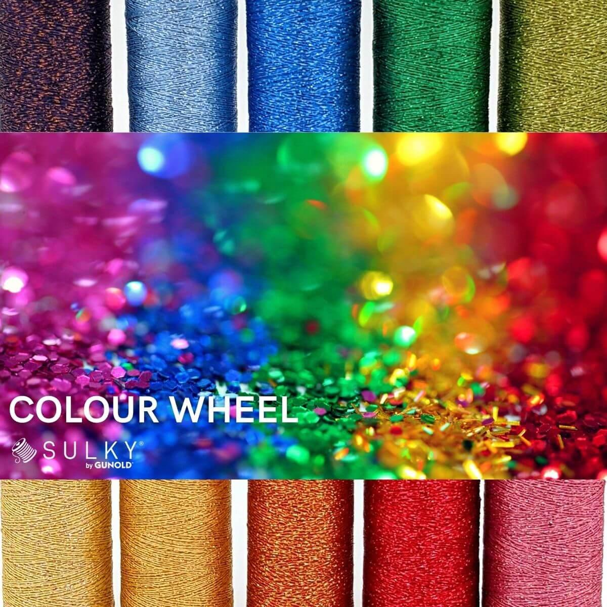 SULKY POLY SPARKLE 30 - Colour Wheel (10 x 265m Snap Spulen)