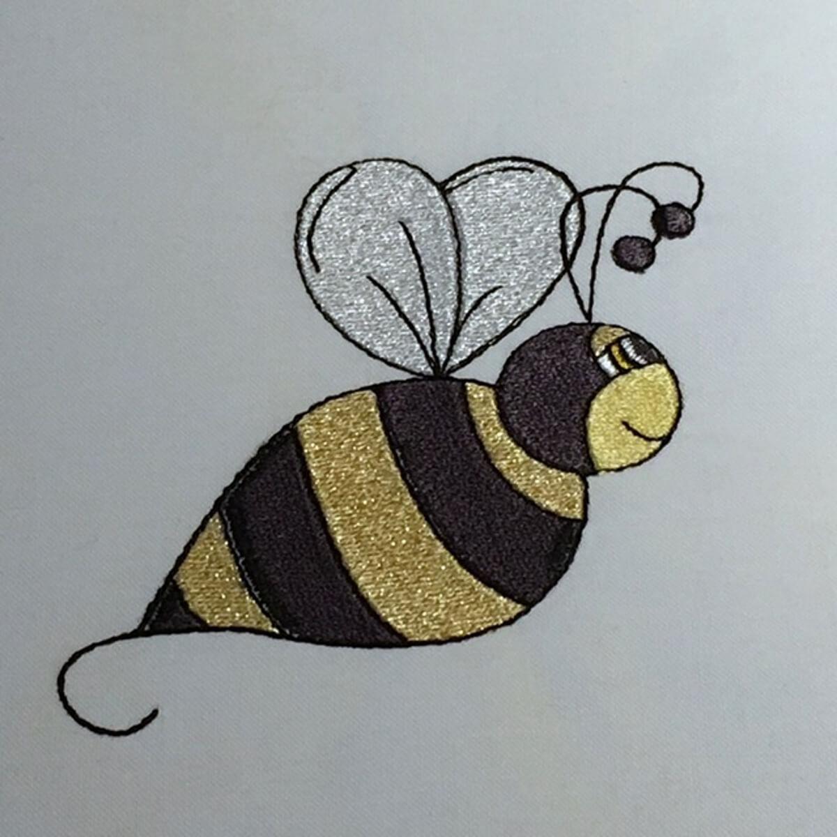 Stickdesign Bumble Bee - die Hummel (Download)