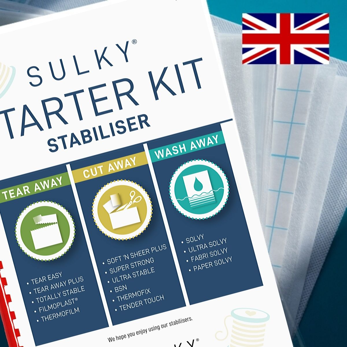 SULKY STARTER KIT - Stabilisers (in Englisch) - Package contains 15 Sampler