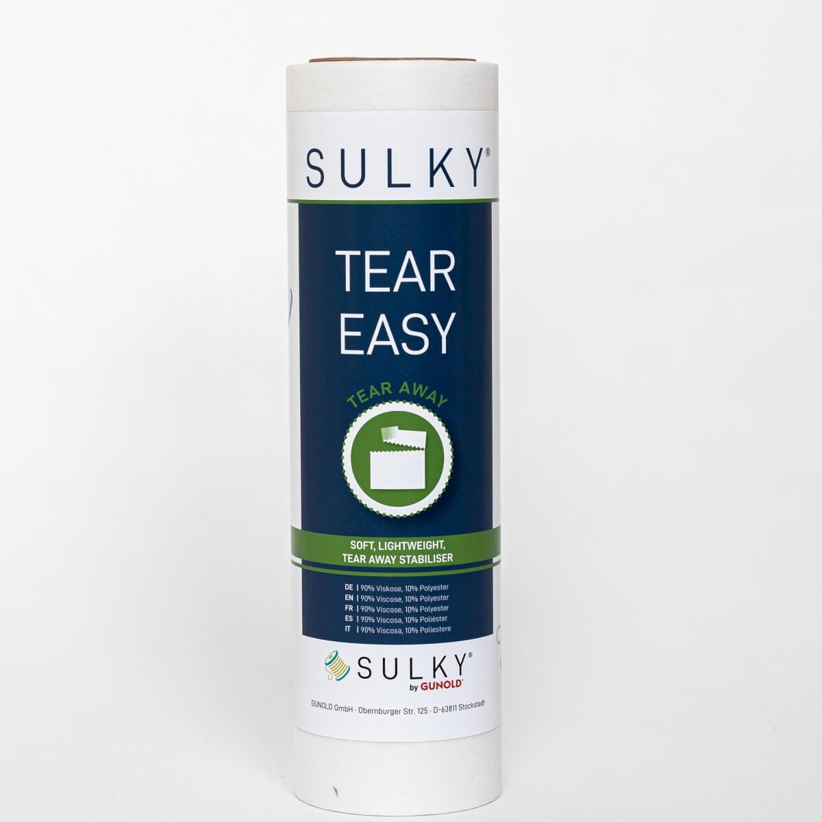 SULKY TEAR EASY weiß, 25cm x 10m