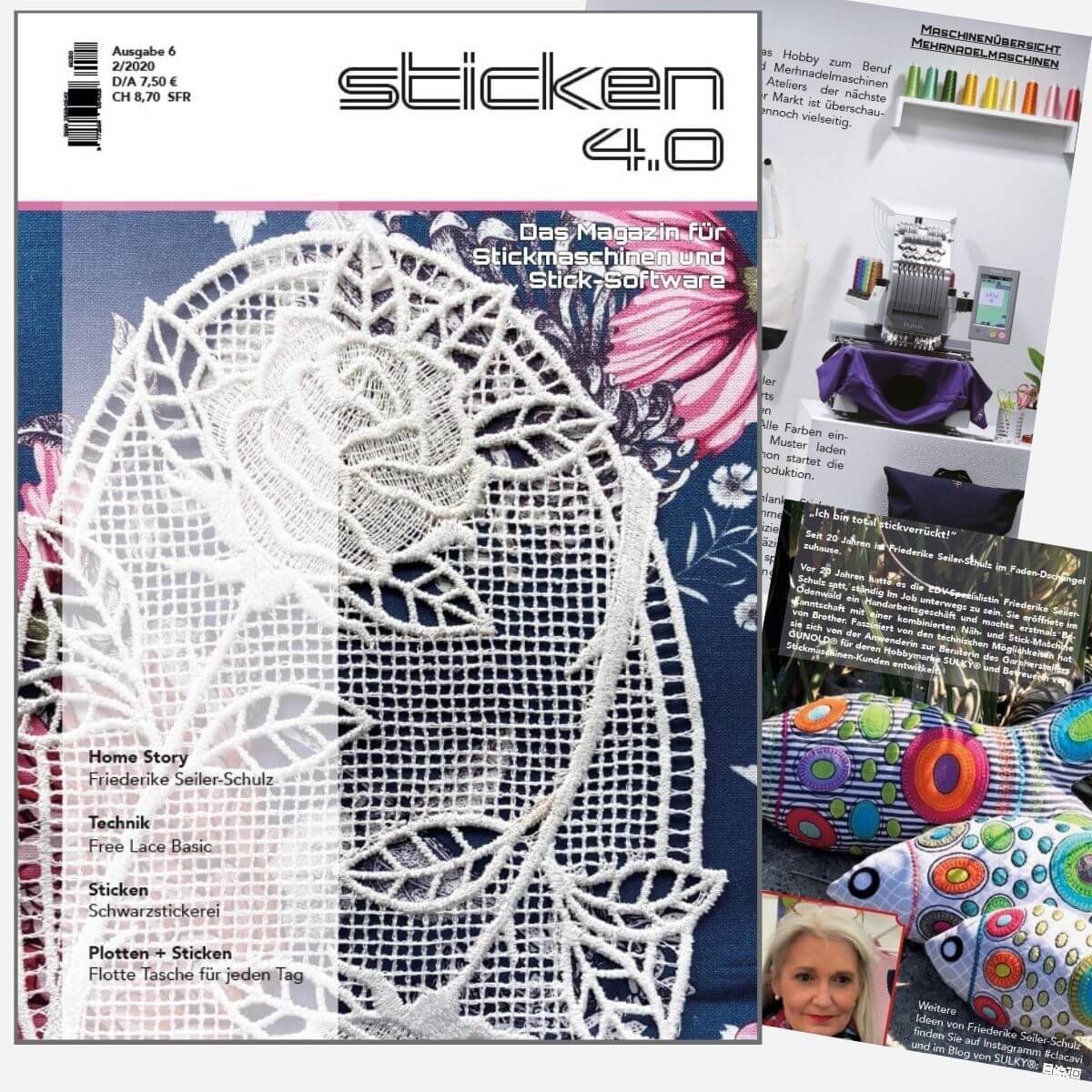 Sticken 4.0 - Das Magazin für Stickmaschinen und Software  - Ausgabe  Feb. 2020