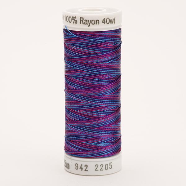 SULKY RAYON 40 ombre/multicolor, 225m Snap Spulen -  Farbe 2205 Blue/Fuchsia/Purple