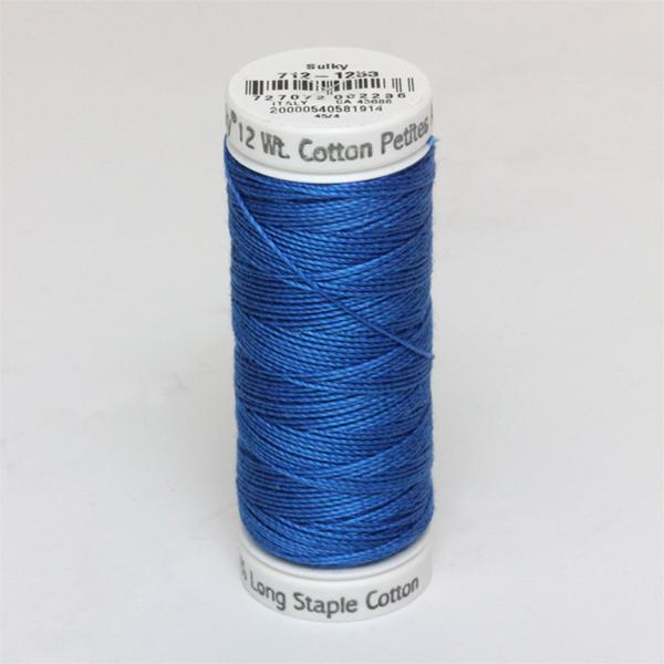 SULKY COTTON PETITES 12, 46m Snap Spulen -  Farbe 1253 Dk. Sapphire