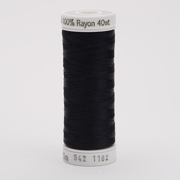 SULKY RAYON 40 farbig, 225m Snap Spulen -  Farbe 1182 Blue Black