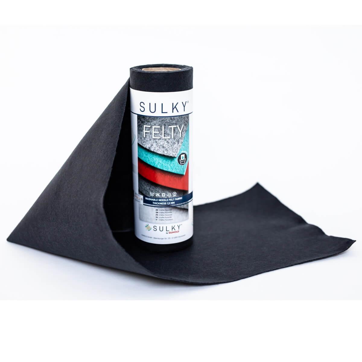 SULKY FELTY, waschbar, 25cm x 3m - Farbe 498 anthrazit