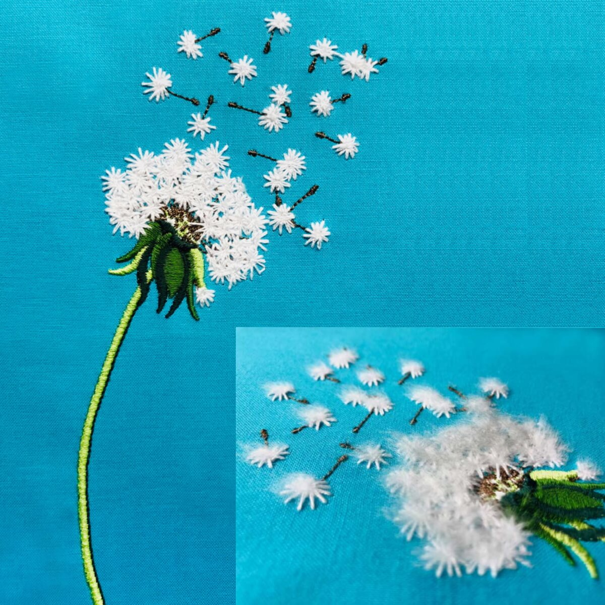 Stickdesign Blüte Pusteblume (Download)