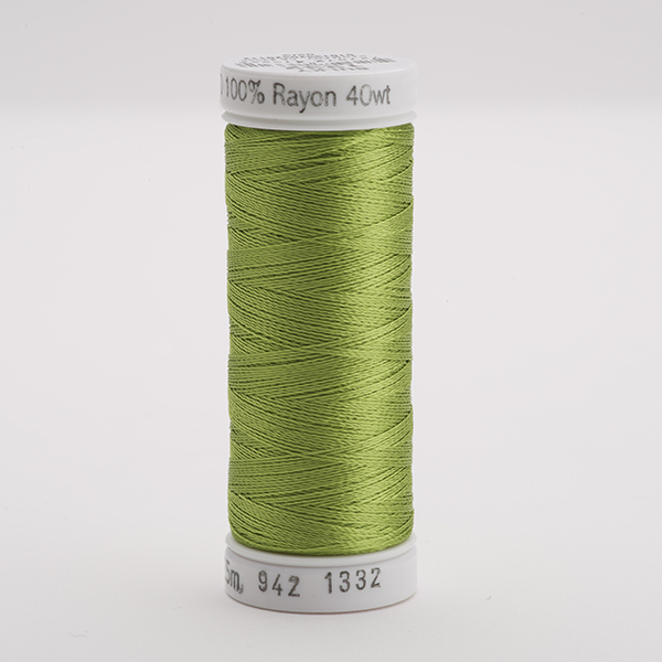 SULKY RAYON 40 farbig, 225m Snap Spulen -  Farbe 1332 Deep Chartreuse