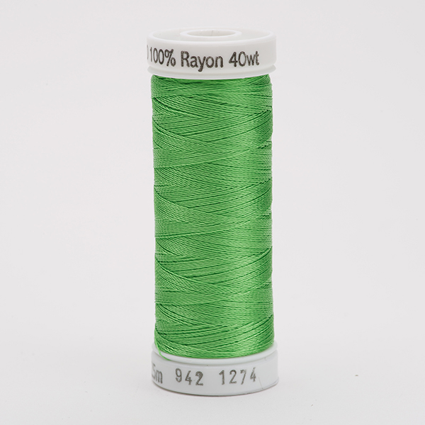 SULKY RAYON 40 farbig, 225m Snap Spulen -  Farbe 1274 Nile Green