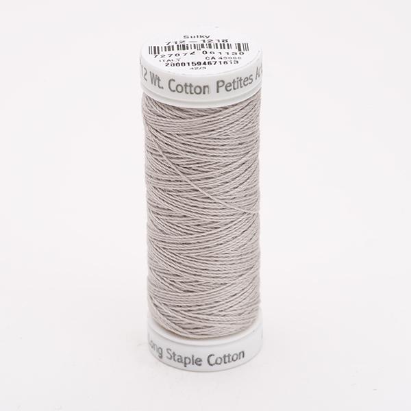 SULKY COTTON PETITES 12, 46m Snap Spulen -  Farbe 1218 Silver Gray