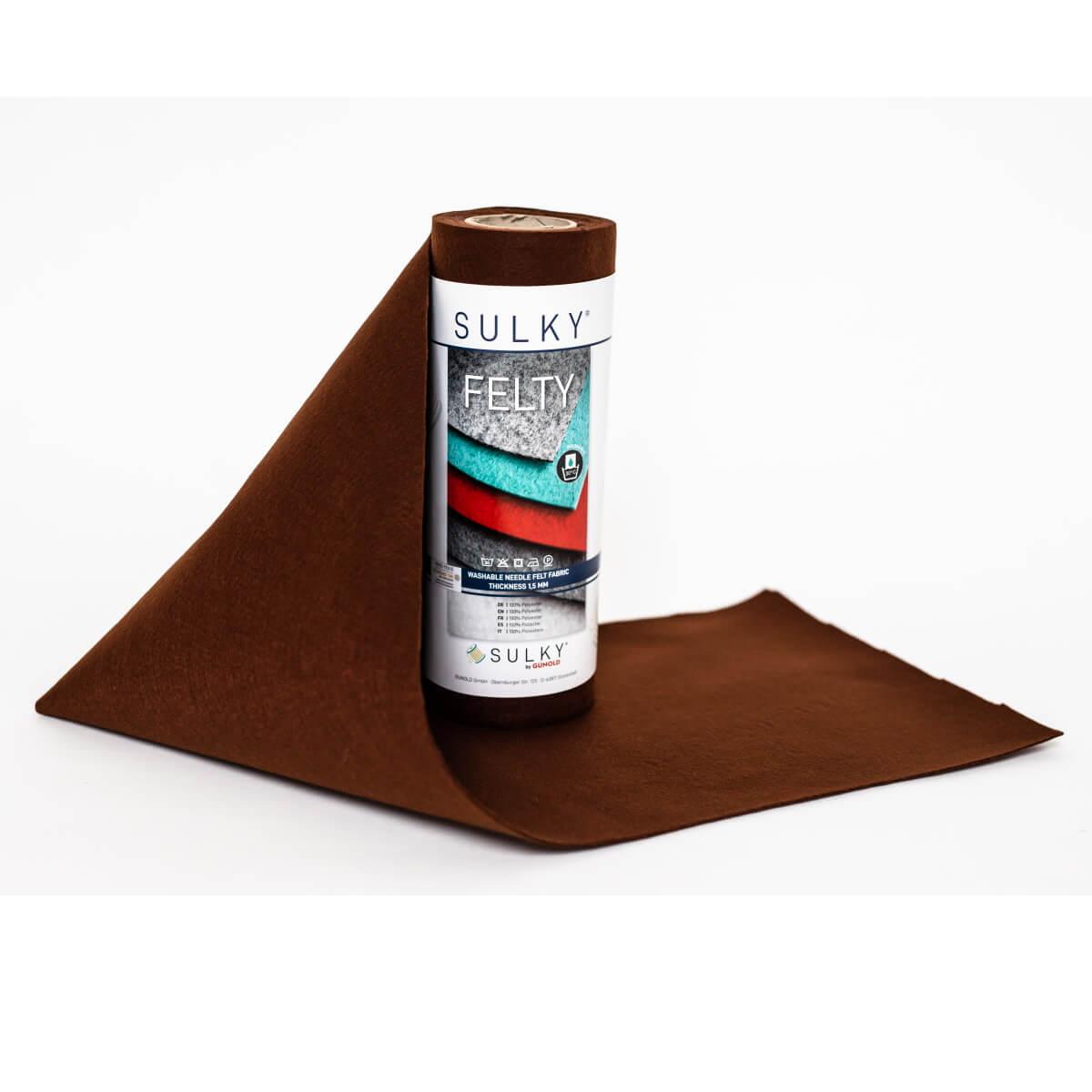 SULKY FELTY, waschbar, 25cm x 3m - Farbe 478 dunkelbraun