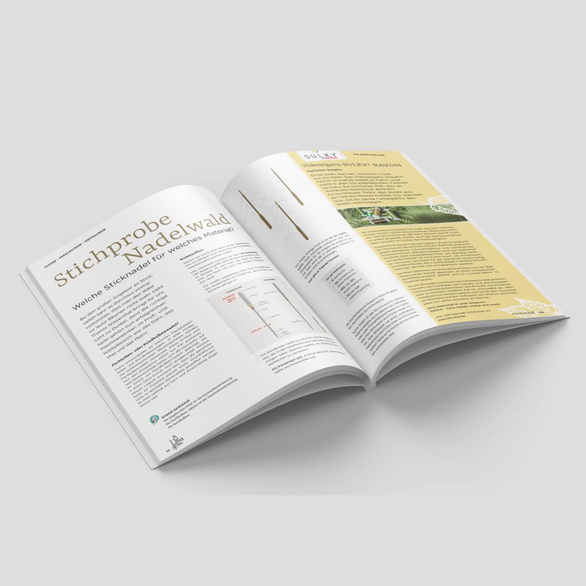 stickstoff-Magazin – Maschinensticken mit Leidenschaft  - Ausgabe  Feb. 2021