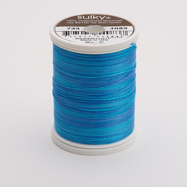 SULKY COTTON 30, 450m King Spulen -  Farbe 4083 Sapphire  multicolour