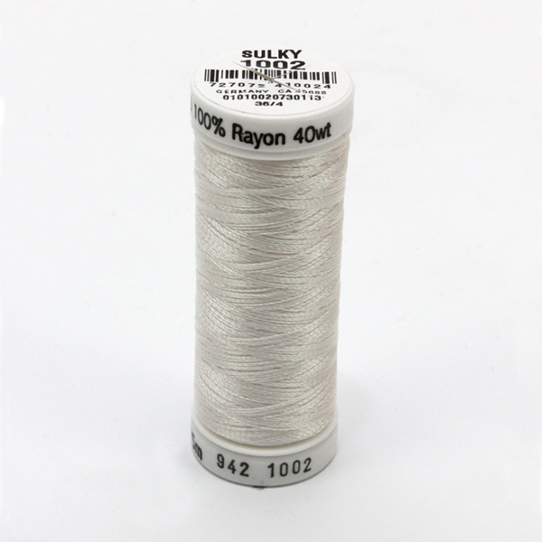SULKY RAYON 40 weiß, 225m Snap Spulen -  Farbe 1002 Soft White