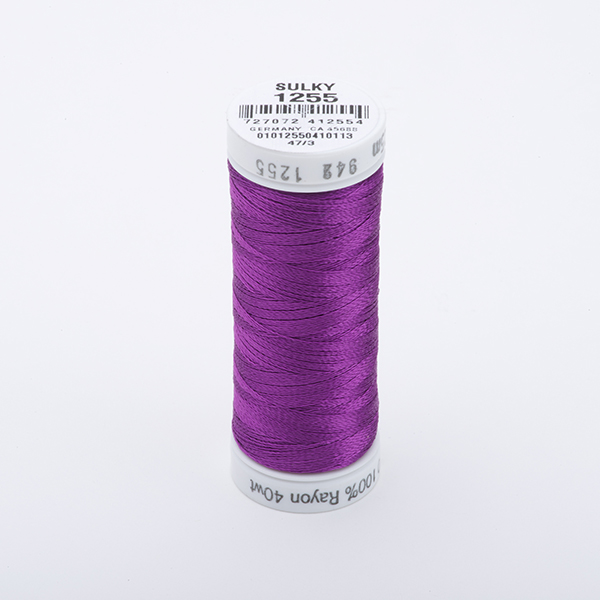 SULKY RAYON 40 farbig, 225m Snap Spulen -  Farbe 1255 Deep Orchid