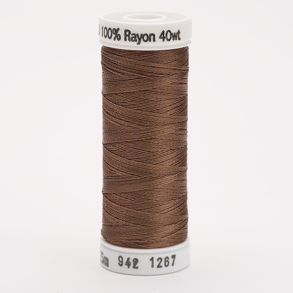 SULKY RAYON 40 farbig, 225m Snap Spulen -  Farbe 1267 Mink Brown