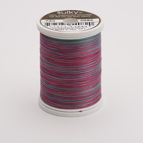 SULKY COTTON 30, 450m King Spulen -  Farbe 4082 Wild Rose  multicolour