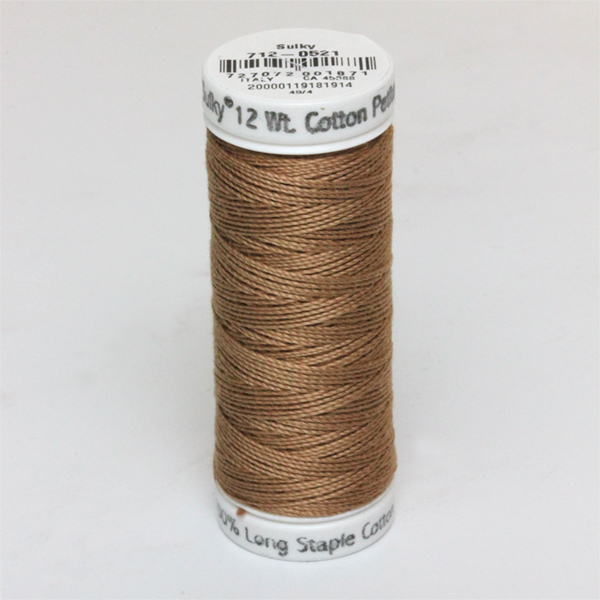 SULKY COTTON PETITES 12, 46m Snap Spulen -  Farbe 0521 Nutmeg