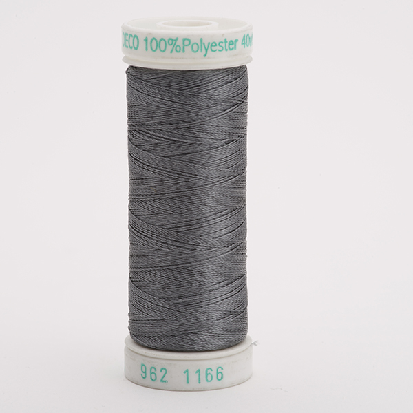 SULKY POLY DECO 40, 225m Snap Spulen -  Farbe 1166 Med. Steel Gray