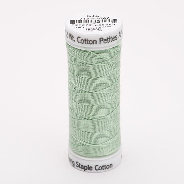 SULKY COTTON PETITES 12, 46m Snap Spulen -  Farbe 1047 Mint Green