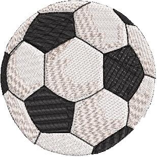 Stickdesign Fußball