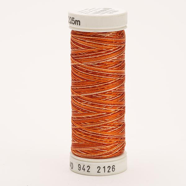 SULKY RAYON 40 ombre/multicolor, 225m Snap Spulen -  Farbe 2126 Vari-Rust Peaches